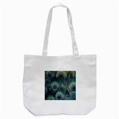 Feathers Art Peacock Sheets Patterns Tote Bag (white)