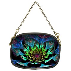 Fractal Flowers Abstract Petals Glitter Lights Art 3d Chain Purses (two Sides)  by BangZart