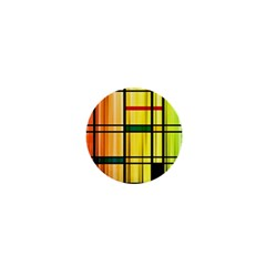 Line Rainbow Grid Abstract 1  Mini Buttons by BangZart