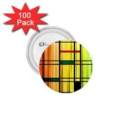 Line Rainbow Grid Abstract 1 75  Buttons (100 Pack)