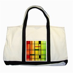 Line Rainbow Grid Abstract Two Tone Tote Bag by BangZart