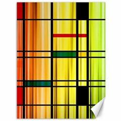 Line Rainbow Grid Abstract Canvas 36  X 48