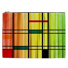 Line Rainbow Grid Abstract Cosmetic Bag (xxl)  by BangZart