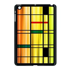 Line Rainbow Grid Abstract Apple Ipad Mini Case (black)
