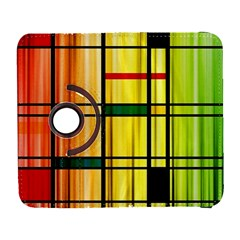 Line Rainbow Grid Abstract Galaxy S3 (flip/folio)