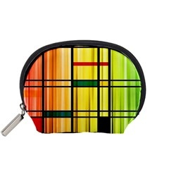Line Rainbow Grid Abstract Accessory Pouches (small)