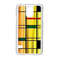 Line Rainbow Grid Abstract Samsung Galaxy S5 Case (white)