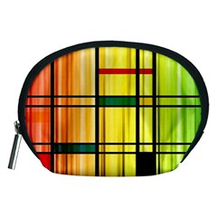 Line Rainbow Grid Abstract Accessory Pouches (medium)