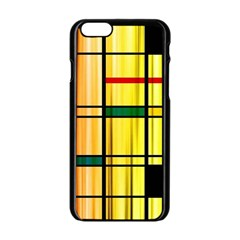 Line Rainbow Grid Abstract Apple Iphone 6/6s Black Enamel Case