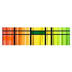 Line Rainbow Grid Abstract Satin Scarf (oblong)