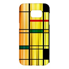 Line Rainbow Grid Abstract Samsung Galaxy S7 Edge Hardshell Case by BangZart