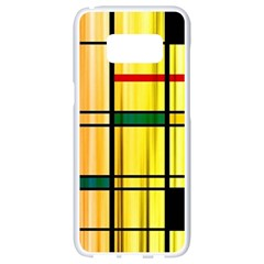 Line Rainbow Grid Abstract Samsung Galaxy S8 White Seamless Case