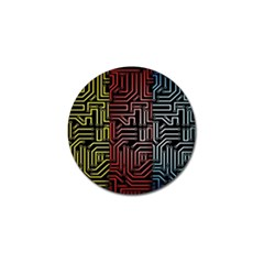 Circuit Board Seamless Patterns Set Golf Ball Marker (4 Pack) by BangZart