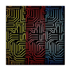 Circuit Board Seamless Patterns Set Face Towel by BangZart