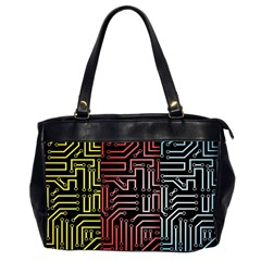 Circuit Board Seamless Patterns Set Office Handbags (2 Sides)