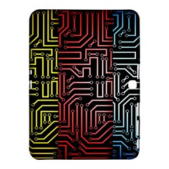 Circuit Board Seamless Patterns Set Samsung Galaxy Tab 4 (10 1 ) Hardshell Case
