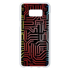 Circuit Board Seamless Patterns Set Samsung Galaxy S8 Plus White Seamless Case