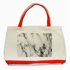 Marble Pattern Classic Tote Bag (red)