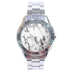 Marble Pattern Stainless Steel Analogue Watch