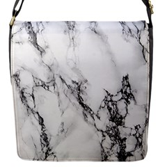 Marble Pattern Flap Messenger Bag (s)