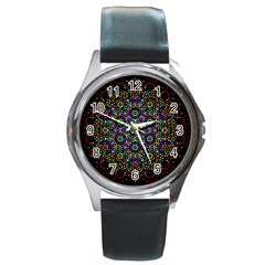 The Flower Of Life Round Metal Watch by BangZart