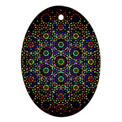 The Flower Of Life Ornament (oval) by BangZart
