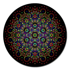 The Flower Of Life Magnet 5  (round)