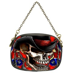 Confederate Flag Usa America United States Csa Civil War Rebel Dixie Military Poster Skull Chain Purses (two Sides)