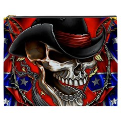 Confederate Flag Usa America United States Csa Civil War Rebel Dixie Military Poster Skull Cosmetic Bag (xxxl)  by BangZart
