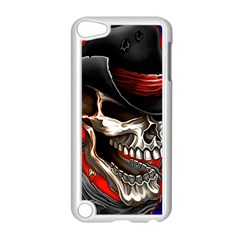 Confederate Flag Usa America United States Csa Civil War Rebel Dixie Military Poster Skull Apple Ipod Touch 5 Case (white)