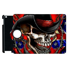 Confederate Flag Usa America United States Csa Civil War Rebel Dixie Military Poster Skull Apple Ipad 3/4 Flip 360 Case by BangZart