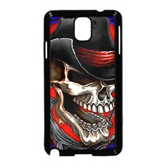 Confederate Flag Usa America United States Csa Civil War Rebel Dixie Military Poster Skull Samsung Galaxy Note 3 Neo Hardshell Case (black)