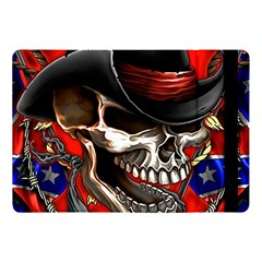Confederate Flag Usa America United States Csa Civil War Rebel Dixie Military Poster Skull Apple Ipad Pro 10 5   Flip Case