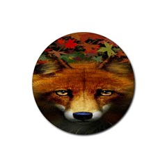 Fox Rubber Coaster (round)  by BangZart