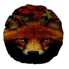 Fox Large 18  Premium Flano Round Cushions