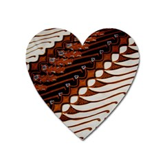 Traditional Batik Sarong Heart Magnet