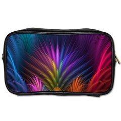 Colored Rays Symmetry Feather Art Toiletries Bags