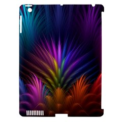 Colored Rays Symmetry Feather Art Apple Ipad 3/4 Hardshell Case (compatible With Smart Cover)