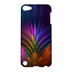 Colored Rays Symmetry Feather Art Apple Ipod Touch 5 Hardshell Case by BangZart