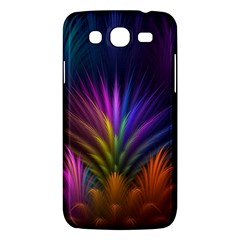 Colored Rays Symmetry Feather Art Samsung Galaxy Mega 5 8 I9152 Hardshell Case