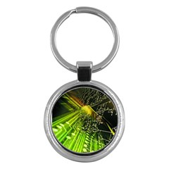 Electronics Machine Technology Circuit Electronic Computer Technics Detail Psychedelic Abstract Patt Key Chains (round)  by BangZart
