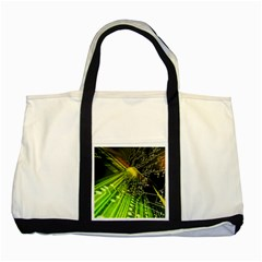 Electronics Machine Technology Circuit Electronic Computer Technics Detail Psychedelic Abstract Patt Two Tone Tote Bag