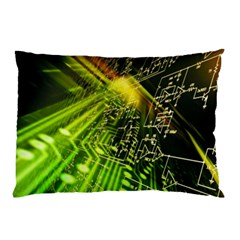 Electronics Machine Technology Circuit Electronic Computer Technics Detail Psychedelic Abstract Patt Pillow Case (two Sides) by BangZart