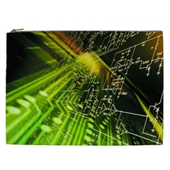 Electronics Machine Technology Circuit Electronic Computer Technics Detail Psychedelic Abstract Patt Cosmetic Bag (xxl)