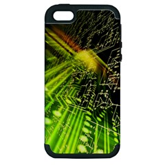 Electronics Machine Technology Circuit Electronic Computer Technics Detail Psychedelic Abstract Patt Apple Iphone 5 Hardshell Case (pc+silicone) by BangZart