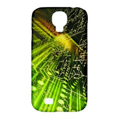 Electronics Machine Technology Circuit Electronic Computer Technics Detail Psychedelic Abstract Patt Samsung Galaxy S4 Classic Hardshell Case (pc+silicone)