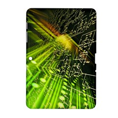 Electronics Machine Technology Circuit Electronic Computer Technics Detail Psychedelic Abstract Patt Samsung Galaxy Tab 2 (10 1 ) P5100 Hardshell Case  by BangZart