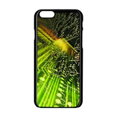 Electronics Machine Technology Circuit Electronic Computer Technics Detail Psychedelic Abstract Patt Apple Iphone 6/6s Black Enamel Case by BangZart