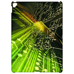 Electronics Machine Technology Circuit Electronic Computer Technics Detail Psychedelic Abstract Patt Apple Ipad Pro 12 9   Hardshell Case