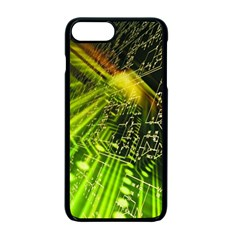 Electronics Machine Technology Circuit Electronic Computer Technics Detail Psychedelic Abstract Patt Apple Iphone 7 Plus Seamless Case (black)